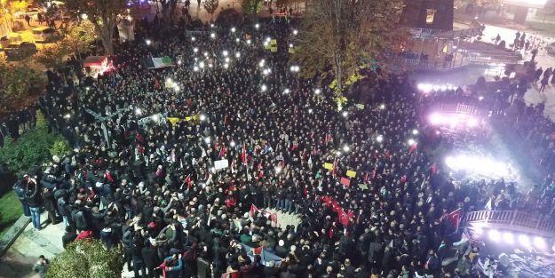 Malatya'da Kudüs için büyük yürüyüş yapıldı