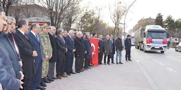Malatya'da 20 TIR 2. Ordu Önünden Yola Çıktı