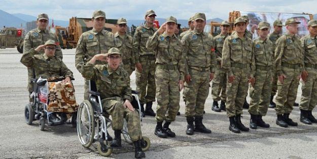 """Engellilerden Temsili Askerlik.. 'Hepimize Örnek Teşkil Ediyorsunuz"""""""