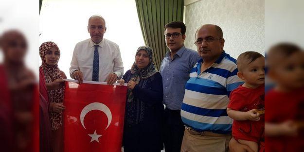 15 Temmuz şehitlerinin ailelerini ziyaret ettiler