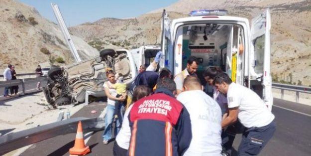Erkenek'teki Kazada 1 Ölü, 3 Yaral