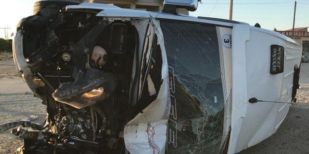 Kaza yapan minibüs için yardım kampanyası başlatıldı