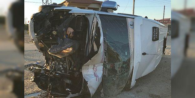 Taraftarlar kaza yaptı, 15 yaralı