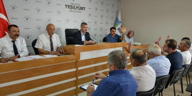 Yeşilyurt Belediye Meclisi Ağustos ayı çalışmalarını tamamladı