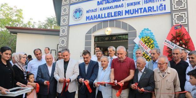 4 mahalleye hizmet verecek 'Muhtar Evi' hizmete açıldı