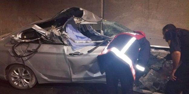 Erkenek Tünelinde Kaza: 1 Ölü, 2 Yaralı