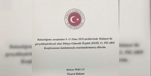 Dünya Gümrük Örgütü Malatya'da toplanıyor