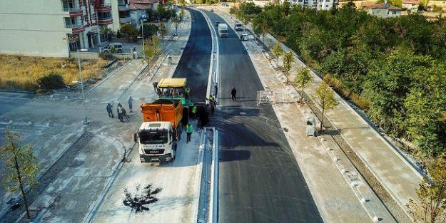 Göztepe Caddesi asfaltlandı
