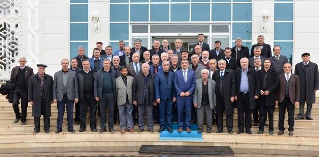 Muhtarlardan Gürkan'a ziyaret