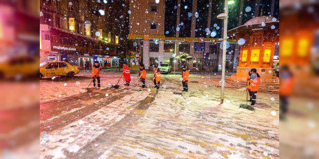 Büyükşehirden kar mücadelesi