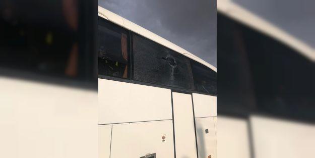EYMS otobüsü Konya'da taşlı saldırıya uğradı