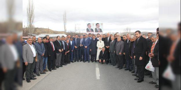 AK Parti heyeti Darende'de temaslarda bulundu