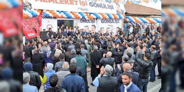 AK Parti'nin Yeşiltepe'deki seçim bürosu açıldı