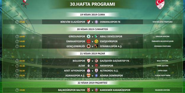Elazığspor 30.haftada maçını Malatya'da oynayacak