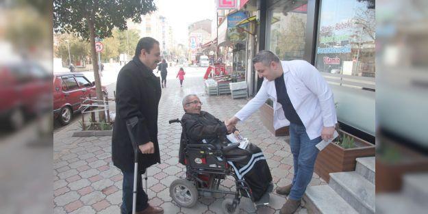 Engellimuhtaradayı 'engel' tanımadan çalışıyor