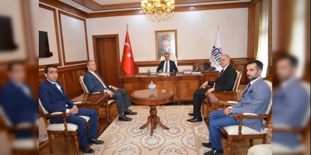 TVF Başkanı Üstündağ, Vali Baruş'u ziyaret etti