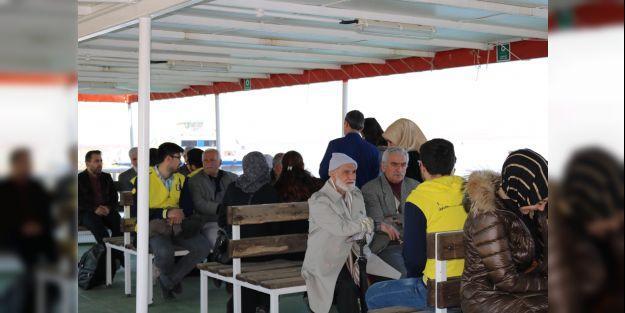 Yaşlılar için tekne turu düzenlendi