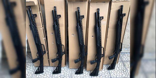 5 pompalı tüfek ele geçirildi