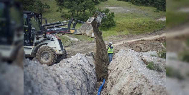 12 bin 600 metre yeni içme suyu hattı yapıldı