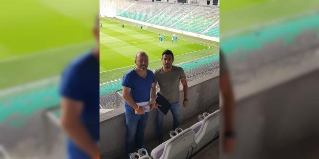 Ljubljana-Rigas maçını izlediler
