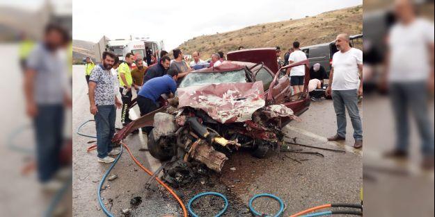 Darende'de Kaza.. 1 Ölü, 7 Yaralı..