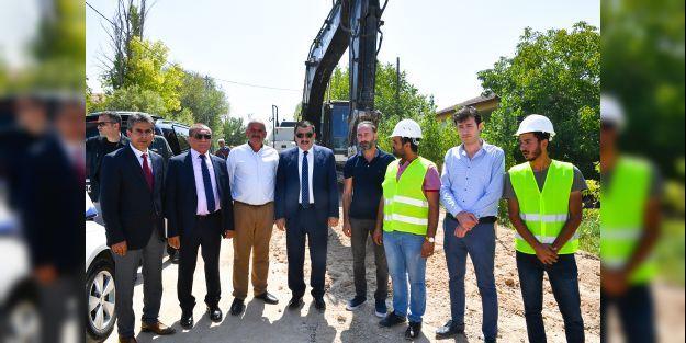 Başkan Gürkan, Şahnahan'da ki çalışmaları inceledi