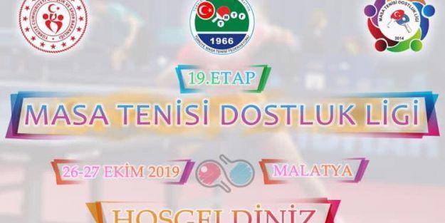Masa Tenisi Dostluk Ligi'nin 19.etabı Malatya'da oynanacak