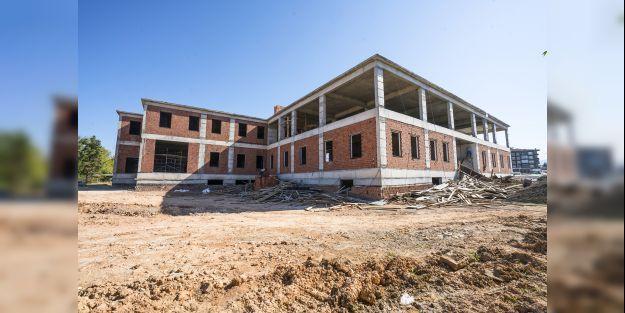 Yeni İtfaiye Merkezi inşaatında çalışmalar sürüyor