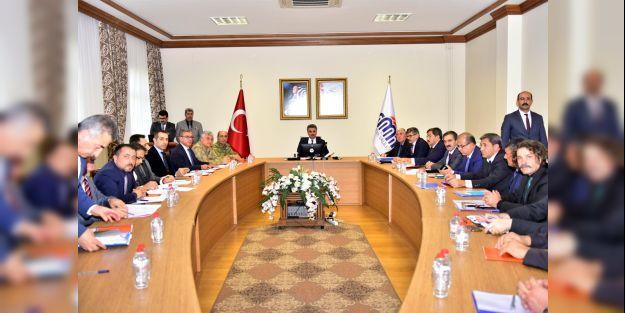 İl Afet ve Acil Durum Koordinasyon Kurulu toplandı