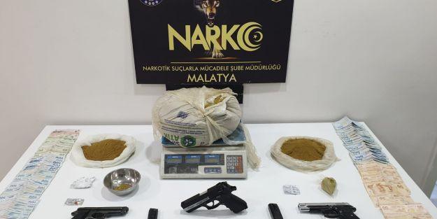 Malatya'da 6 kilogram bonzai ele geçirildi