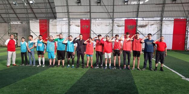 Şehit Yarbay Songül Yakut anısına Halı Saha Futbol Turnuvası düzenlendi