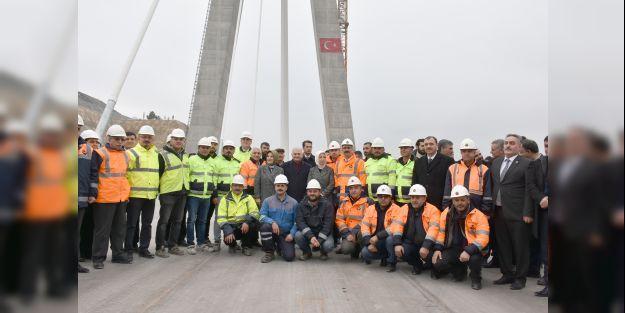 Binali Yıldırım, inşaatı devam eden yeni Kömürhan Köprüsü'nü inceledi