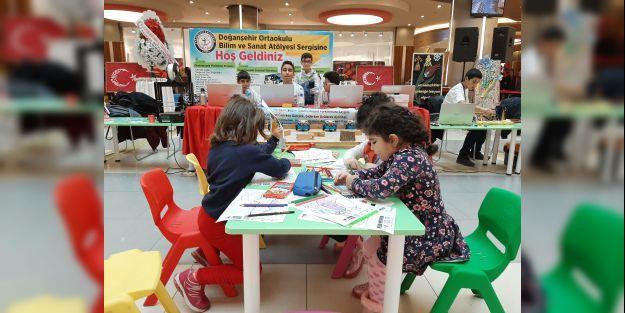 Doğanşehir Ortaokulu'ndan Bilim ve Sanat Atölyesi Sergisi