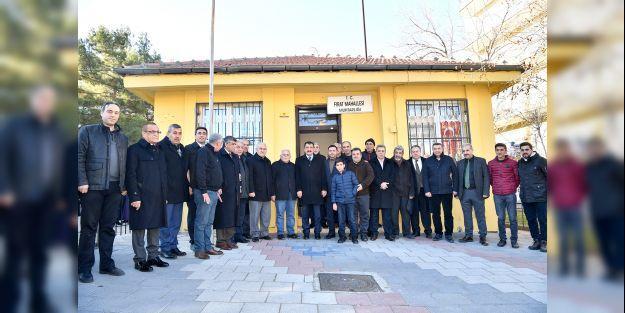 Başkan Gürkan, Fırat Mahallesi'ni ziyaret etti