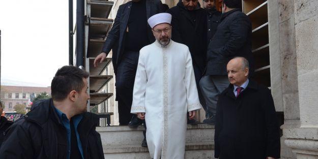 Diyanet İşleri Başkanı Hasarlı Yeni Camide İnceleme Yaptı