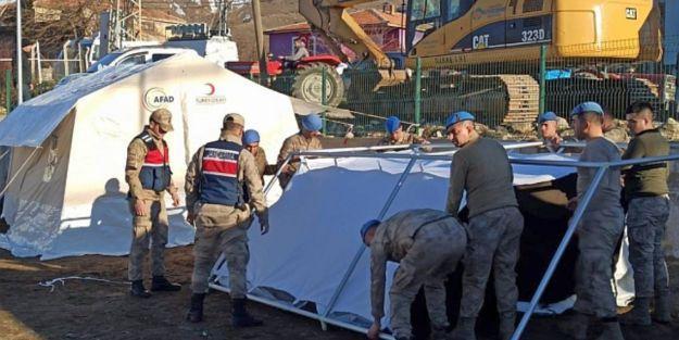 Pütürge ve Doğanyol'a 2 bin çadır kurulacak