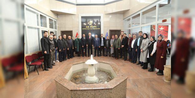 AK Parti Battalgazi İlçe Teşkilatına hayırlı olsun ziyareti