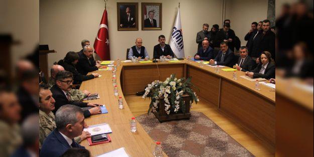 Bakan Soylu ve Kurum'un katılımıyla deprem değerlendirme toplantısı yapıldı
