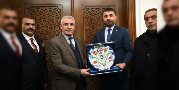 MHP yönetiminden Battalgazi ve Yeşilyurt Belediyelerine ziyaret