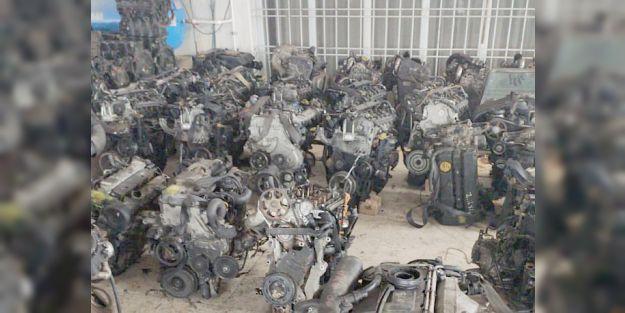 Seri Numaraları Kazınmış 40 Otomobil Motoru Ele Geçti
