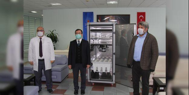 TÖTM'e koronavirüsü yok eden özel hava temizleme cihazı bağışlandı