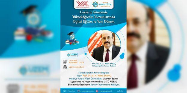 YÖK Başkanı Prof. Dr. Saraç, MTÜ Senatosuna katılıyor