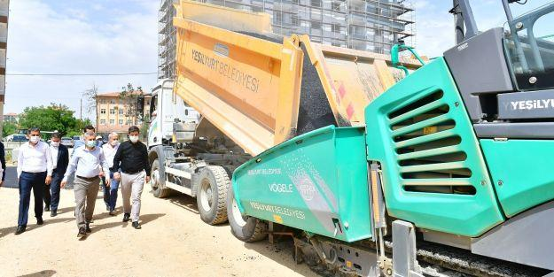 Başkan Çınar, asfalt serim çalışmalarını inceledi