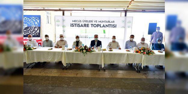 Meclis Üyeleri ve Muhtarlarla İstişare toplantısı yapıldı