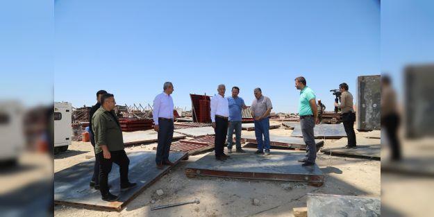 Deprem konutlarının inşaat çalışmaları başladı