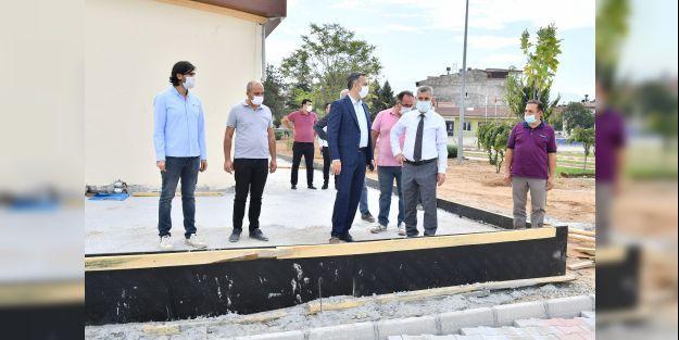 Başkan Çınar çalışmaları yerinde inceledi