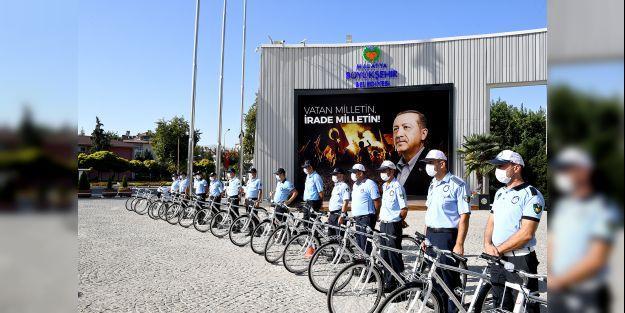 Denetimler bisikletle yapıldı