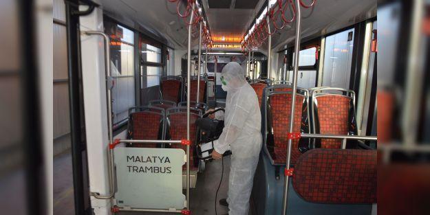 Toplu taşıma araçlarında dezenfekte çalışmaları yapıldı
