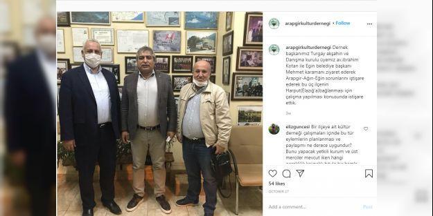 'Arapgir, Elazığ'a Bağlansın' Girişimi