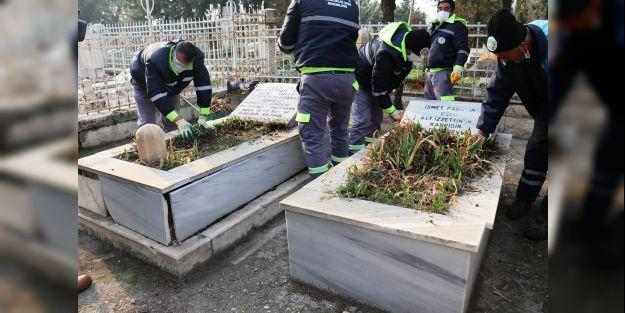İnönü ve Özal Ailesi Mezarlarına Büyükşehir'den Bakım